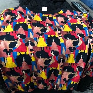 Alice and Olivia face printed top limited edition